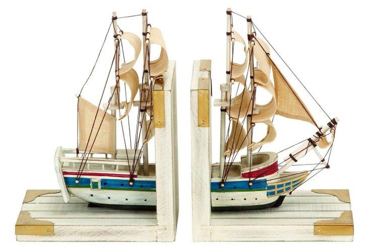 """9"""" Ship Bookends, Asst. of 2"""