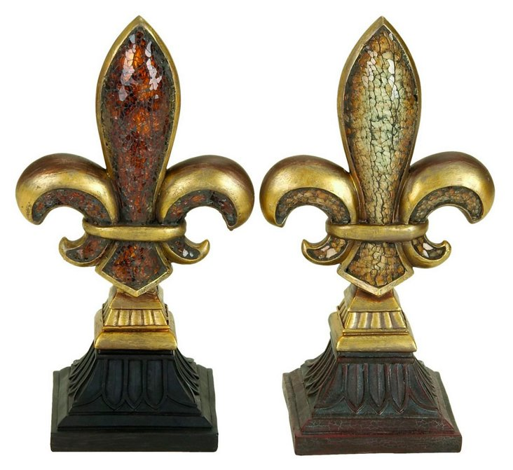Mosaic Finials, Asst. of 2