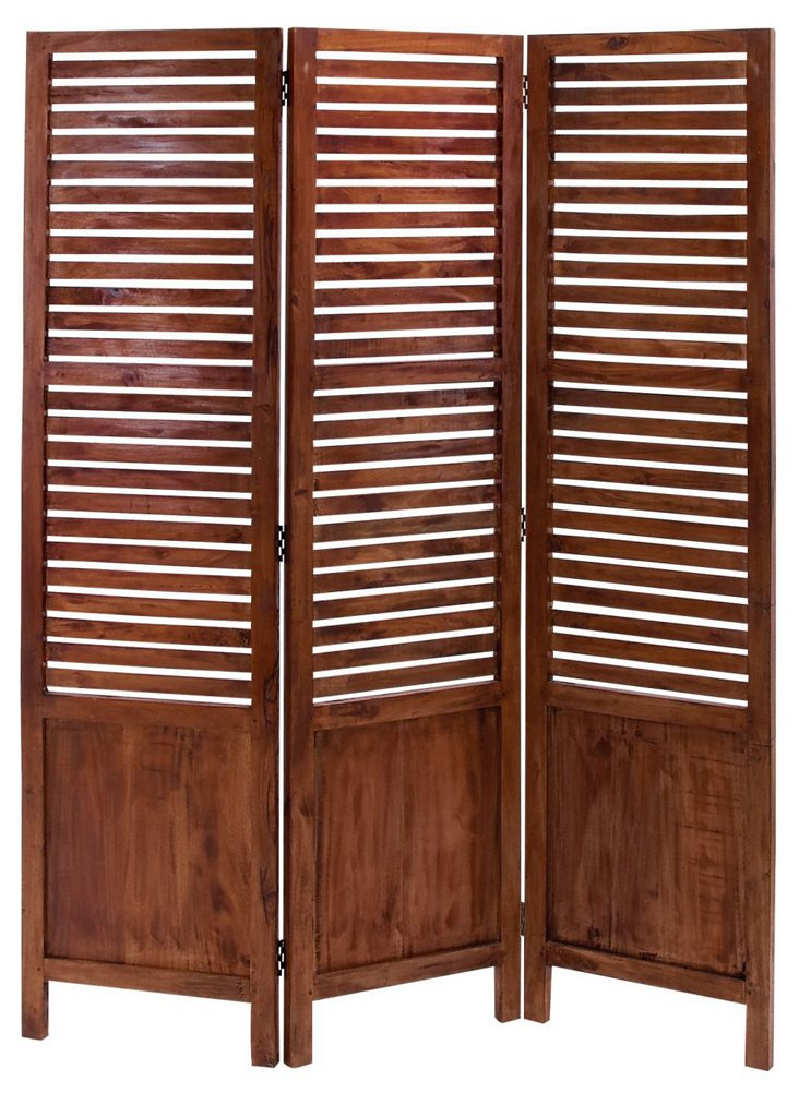 Catherine Three Panel Screen, Maple