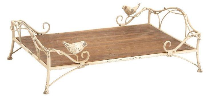 Cottage Bird Tray