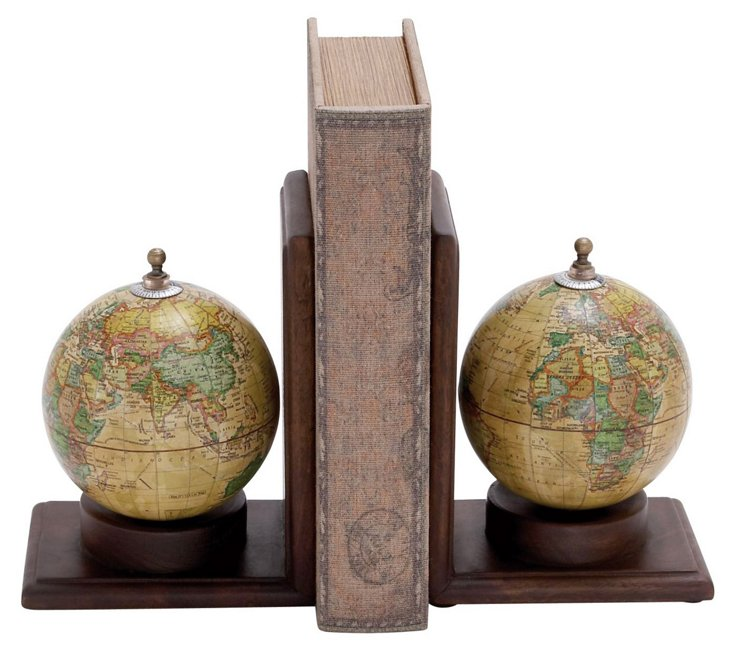 Pair of Globe Bookends