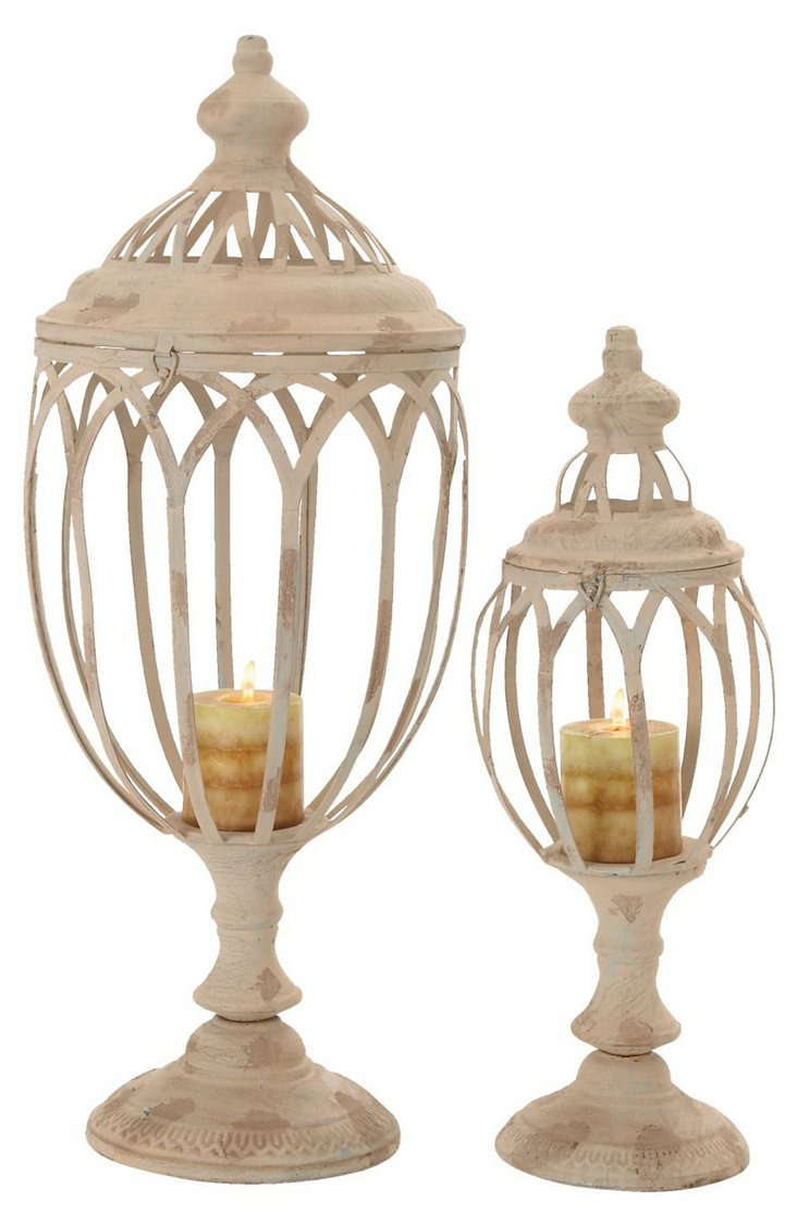 S/2 Architectural Candleholders