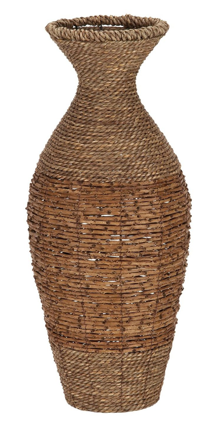 "22"" Rattan Vase"