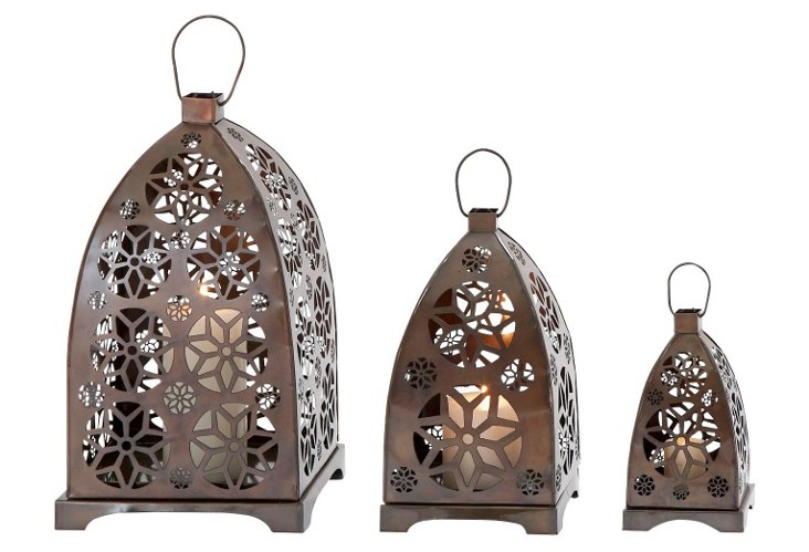 Moroccan Lanterns, Asst. of 3