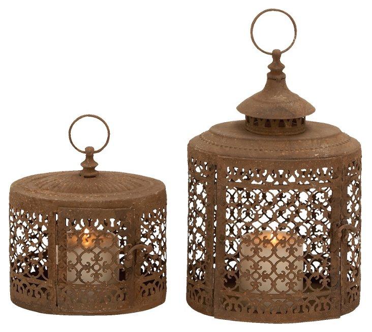Asst. of 2 Loft Lanterns, Brown