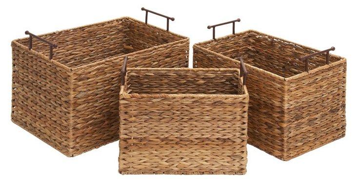Asst. of 3 Wicker Field Baskets