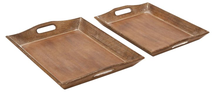Asst. of 2 Southside Trays, Brown