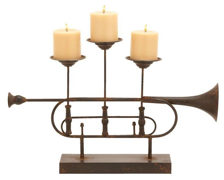 22x14 Trumpet Candleholder