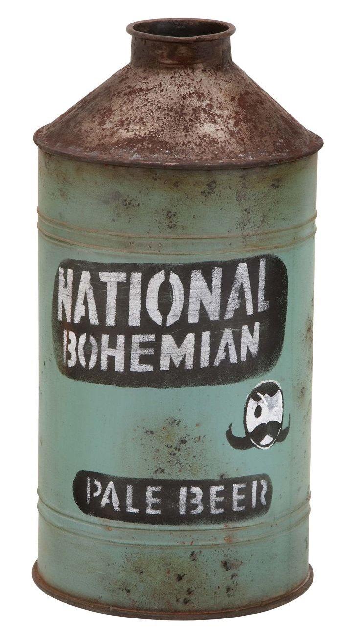 """15"""" Pale Beer Jug, Green"""