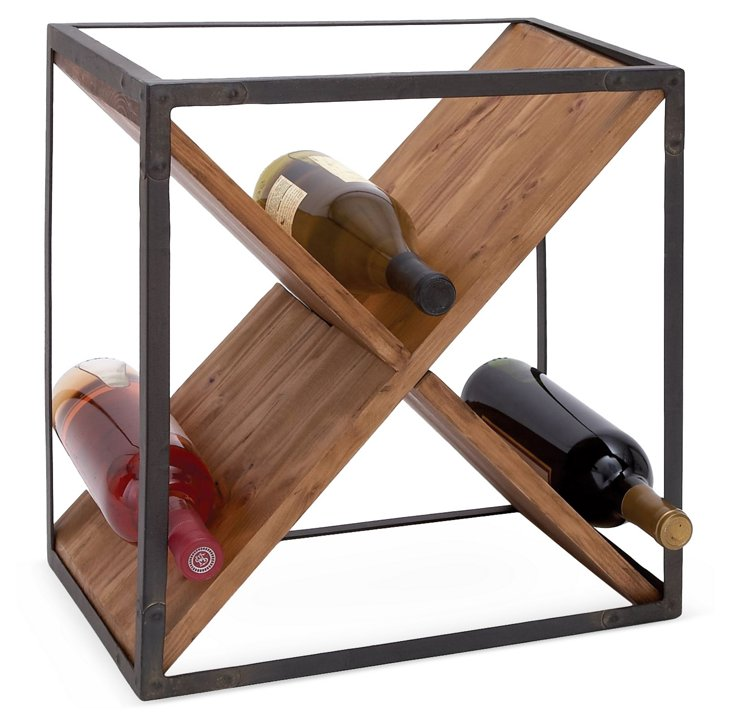 "16"" Crossed Wine Rack"