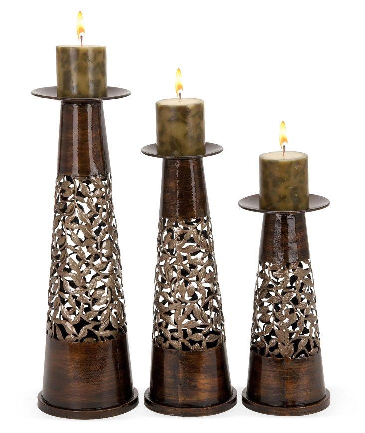 Filigree Candleholders, Asst. of 3