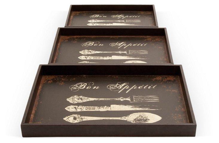 Bon Appetit Trays, Asst. of 3