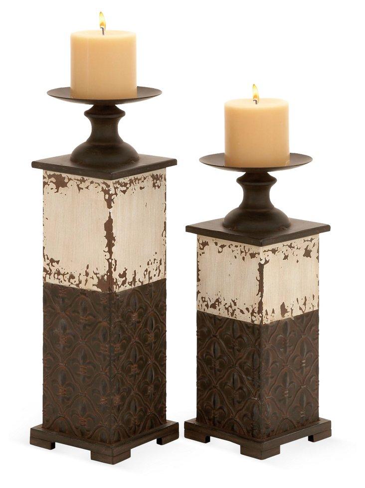 Fleur Candleholders, Asst. of 2