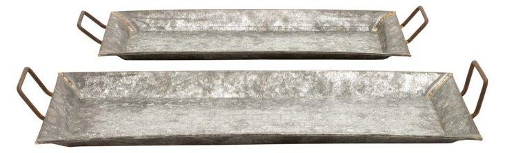 Asst. of 2 Galvanized Trays