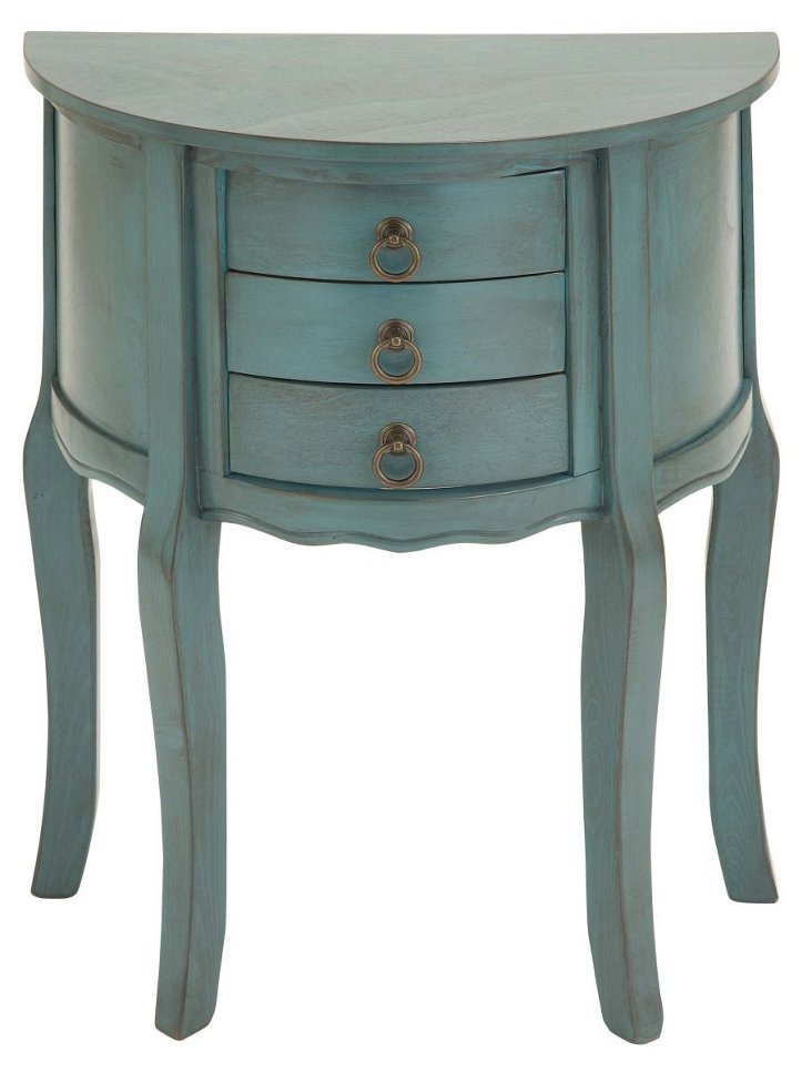*Delancey Nightstand, Distressed Teal