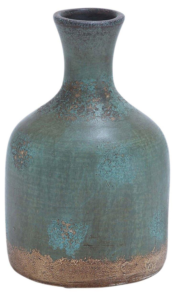 """12"""" Terracotta Bottle Vase"""