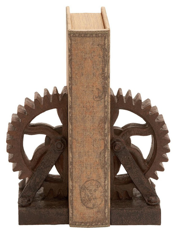 Pair of Wheel Gear Bookends