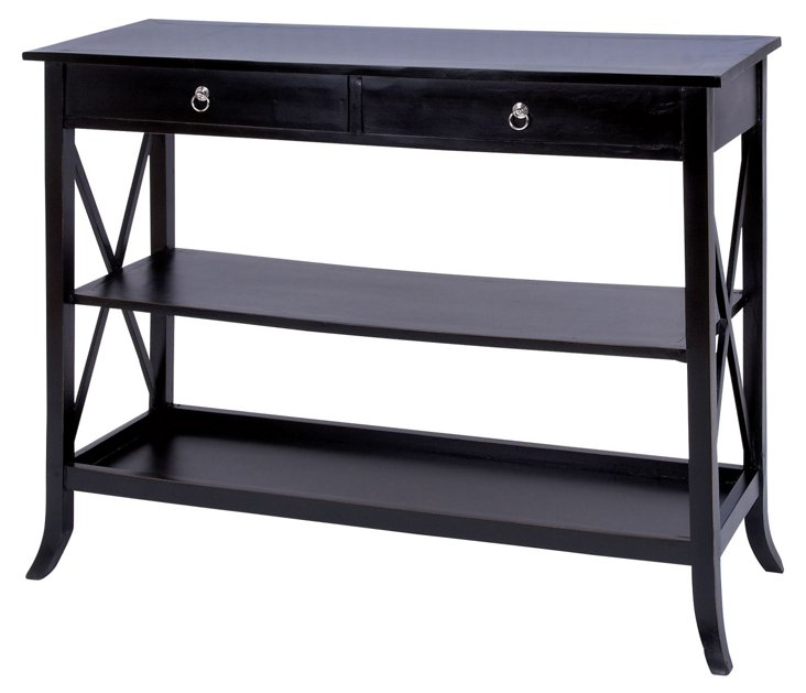 Kennedy Console Table, Espresso