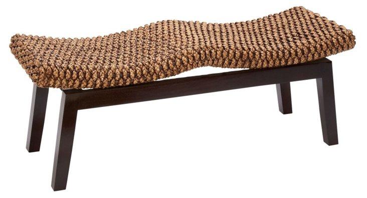 Hyacinth Bench, Espresso/Jute