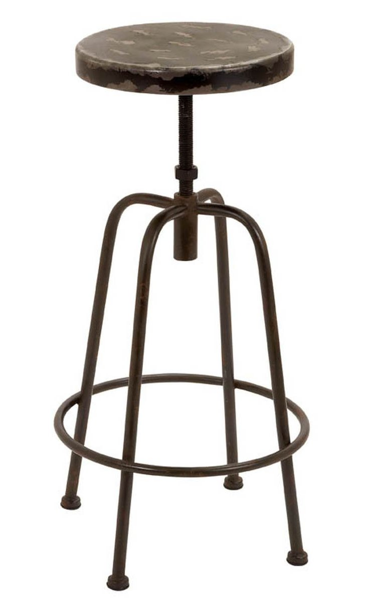 Hayward Barstool, Distressed Iron