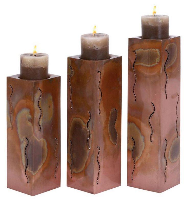 Distressed Candleholder, Asst. of 3