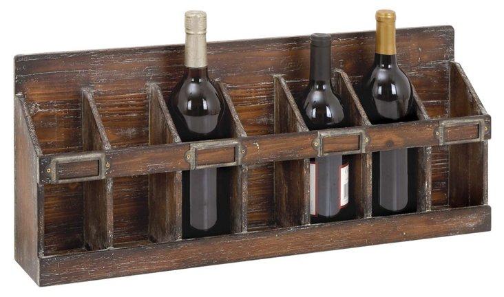"""Wood Wine Rack, 26"""""""