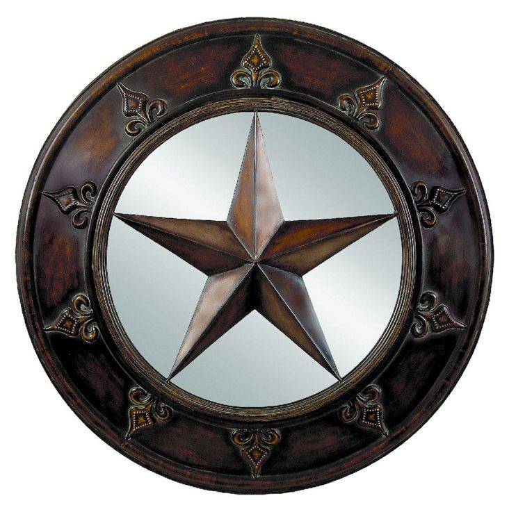 Star Wall Mirror, Bronze