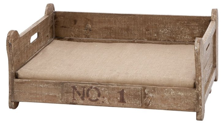 Classic Wooden Pet Bed, Natural