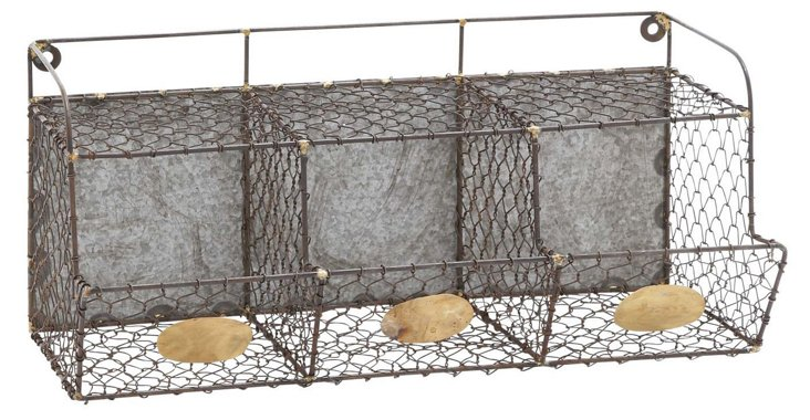 Large Metal Wire Wall Rack