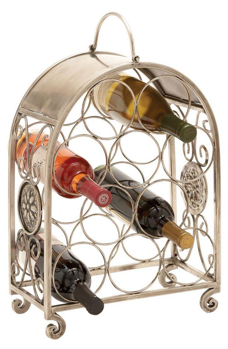 Metal Swirl Wine Holder