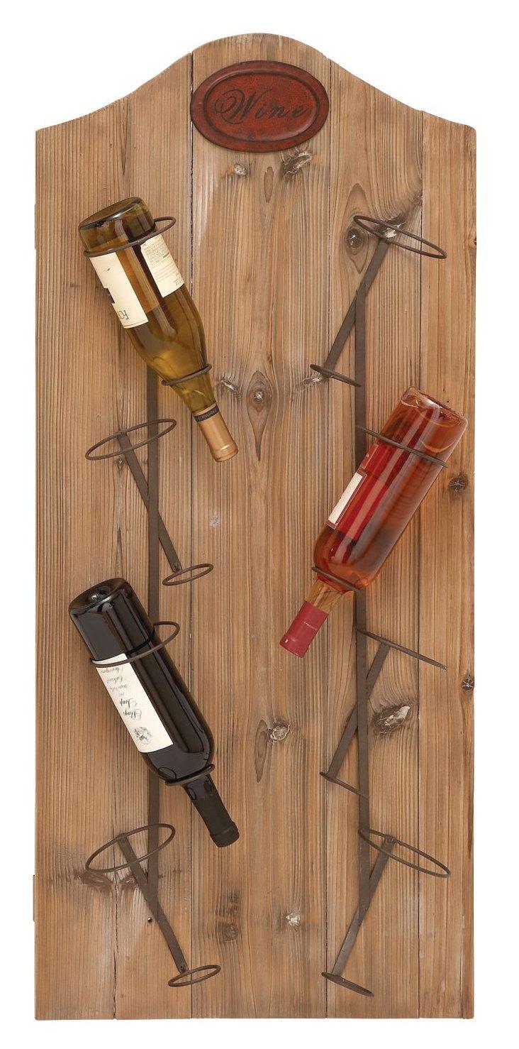 Wood Metal Wine Rack