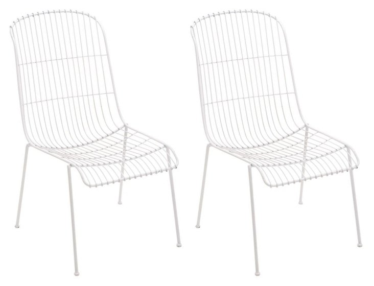 White Milly Chairs, Set of 4