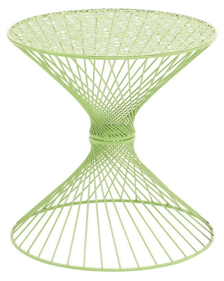 "Timms 19""Dia Table, Green"