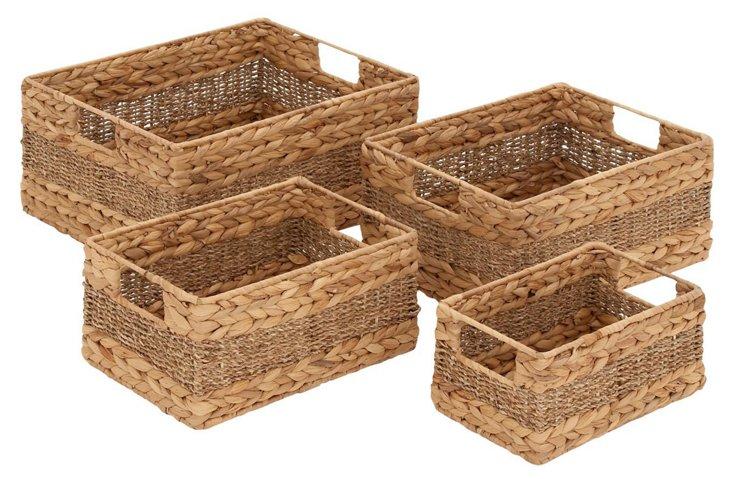 Asst. of 4 Sea-Grass Baskets