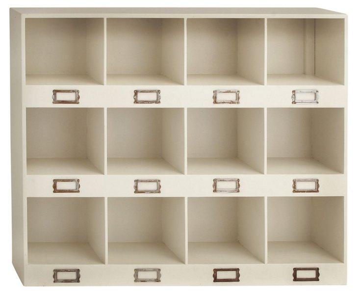 12-Cubby Wall Shelf