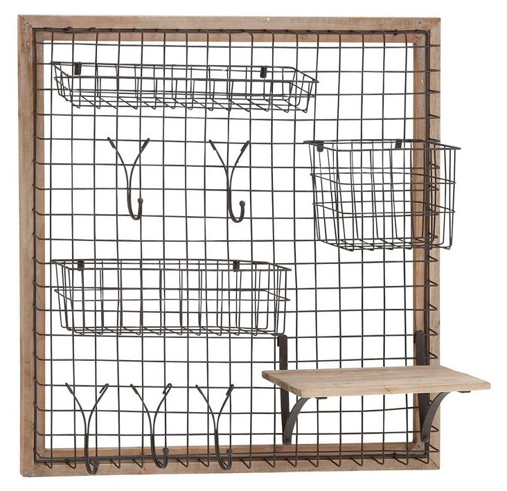 "28"" Hanging Iron Storage Rack"