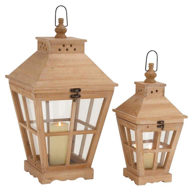 Asst. of 2  Streetlight Lanterns, Natural