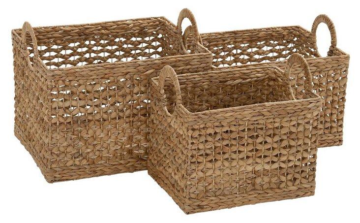 S/3 Square Sea-Grass Baskets