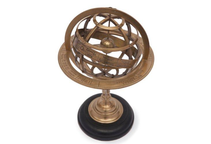 "16"" Brass Armillary Sphere"
