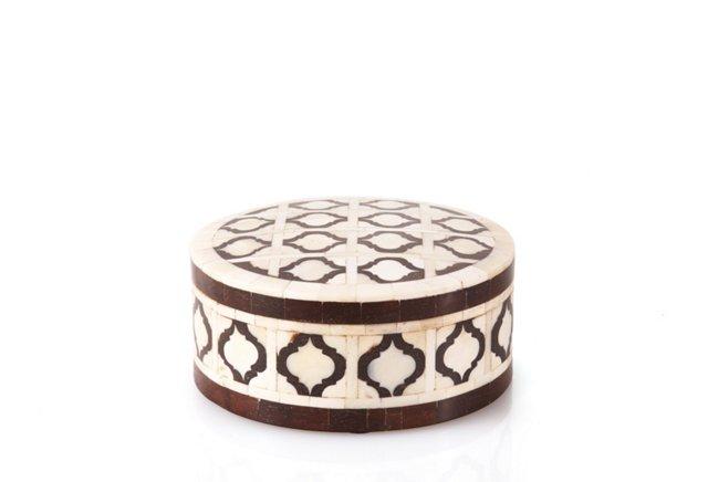 Bone Inlay Treasure Box, Brown