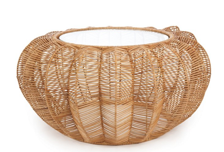 Rattan Coffee Table, Natural