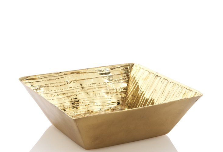 Wood Grain Gold Etched Tray