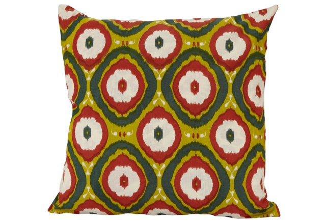 18x18 Reversible Pillow, Green/Red