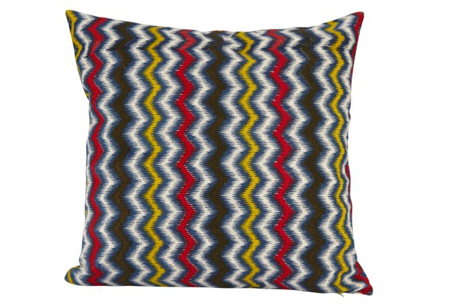 18x18 Reversible Pillow, Multi Ribbon
