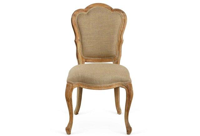 Adrienne Side Chair, Greige