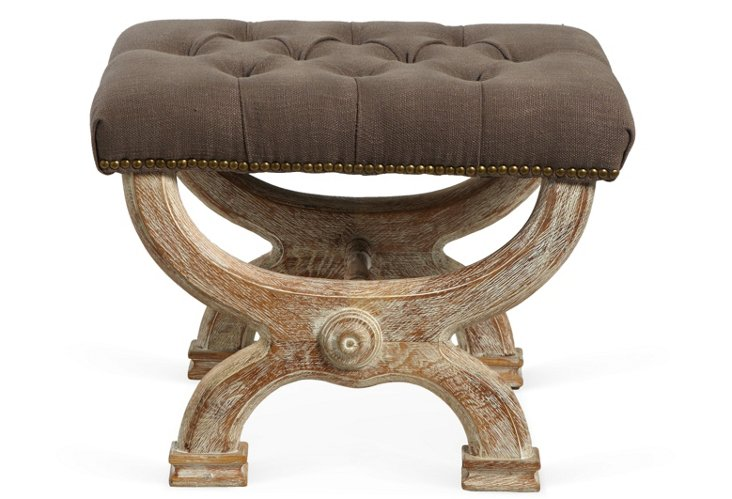 Tufted Stool, Brown