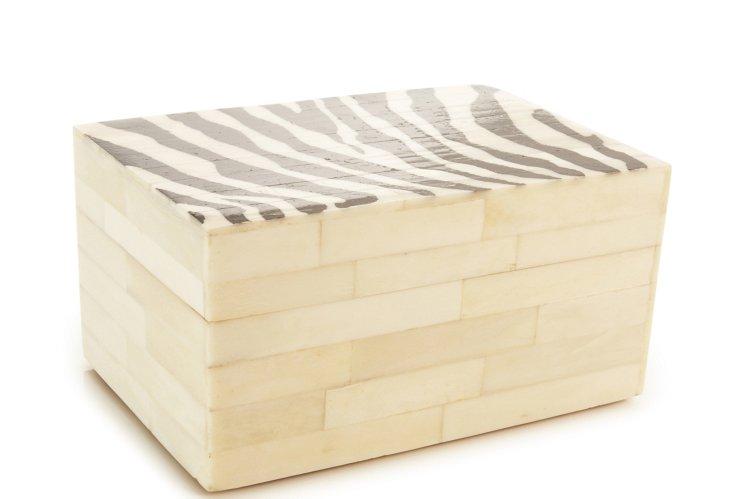 Black Zebra Bone Box