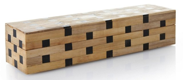 Bamboo Box w/ Horn Square Inlay