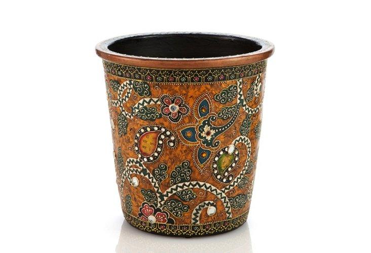 """10"""" Embossed Terracotta Planter"""