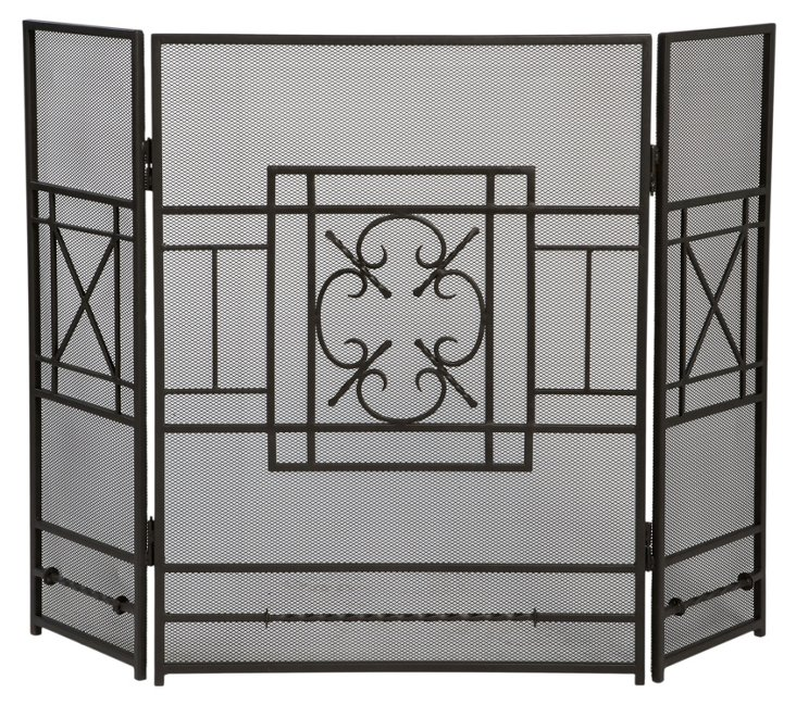 Three-Panel Fireplace Screen, Sulgrave